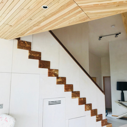 Spalted beech staircase