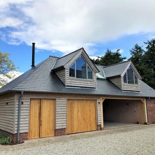 garage and pool barn