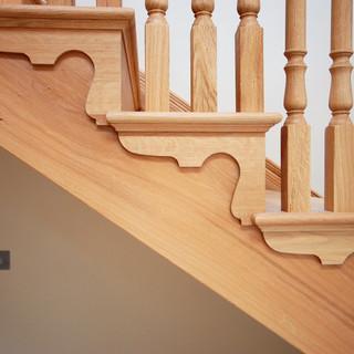 Oak staircase details