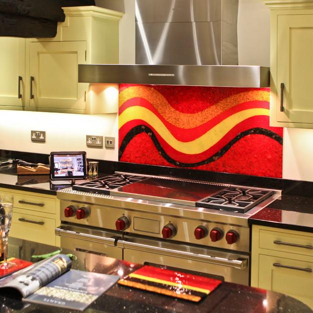 Painted kitchen with granite worktops