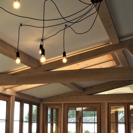 Green oak framed conservatory