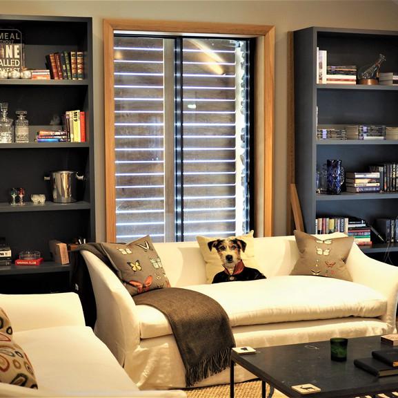 Shooting Lodge bookshelves