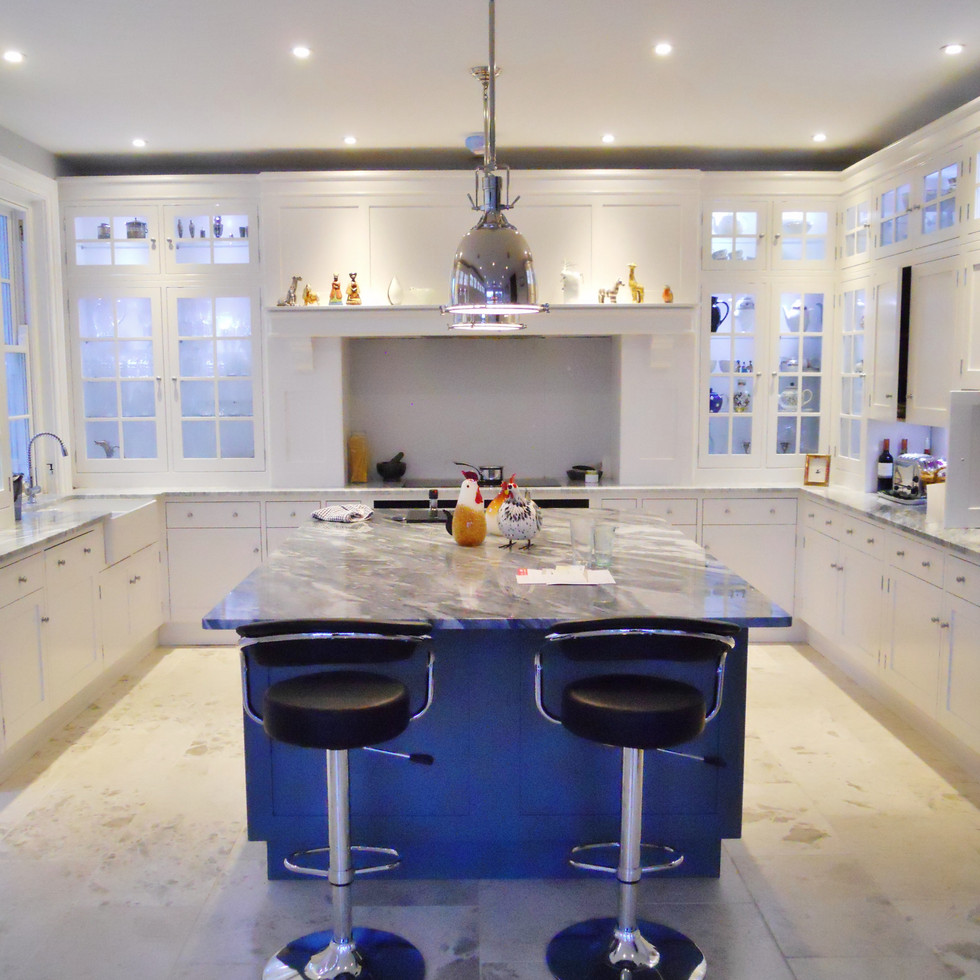 Granite and painted kitchen