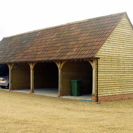 Green oak and cedar carport
