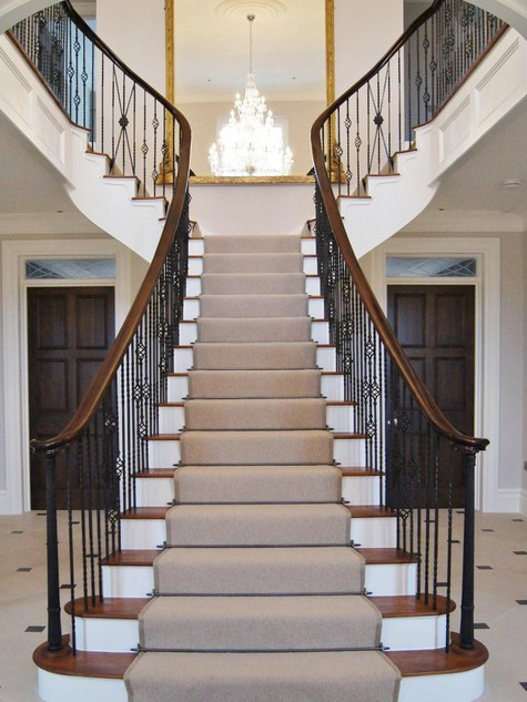 Grand feature staircase