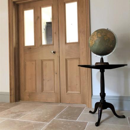 internal oak door with slave door