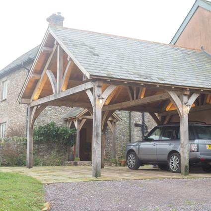 Green Oak framed carport
