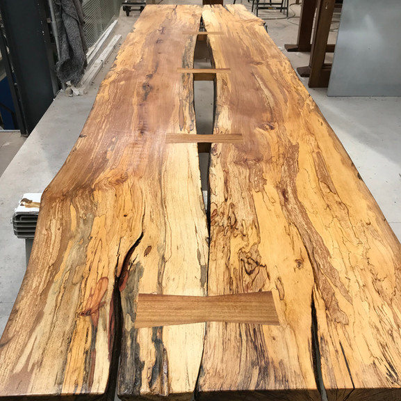 Spaulted beech table