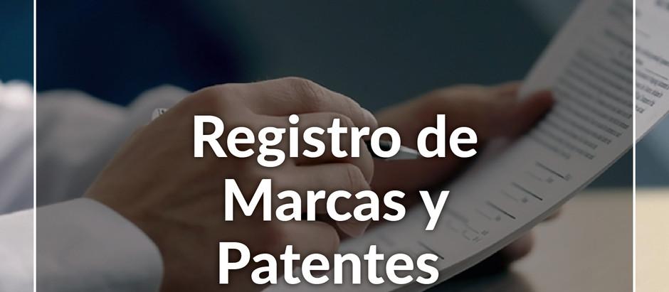 Registro de Marcas y Patentes.