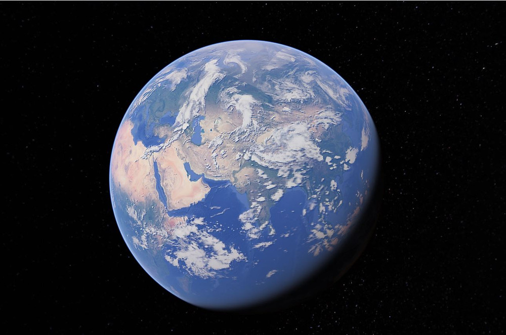 An image from Google Earth using 'Launch Earth' feature