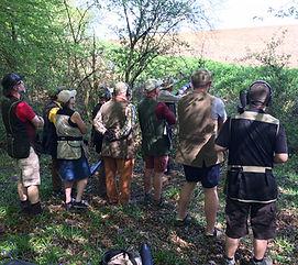 Members at a BWA clay shoot