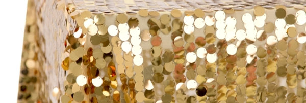 Round Confetti Gold Sequin Tablecloth