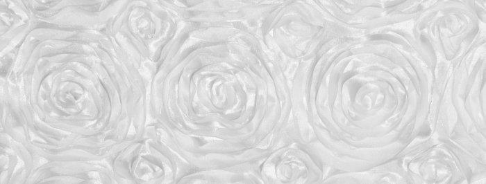 Satin Ribbon White Rosette Tablecloth