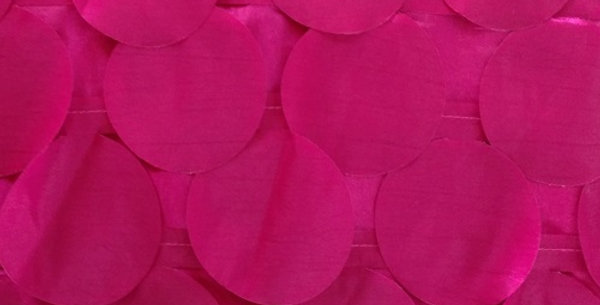 RENTAL - Round Drops Taffeta Pomegrante Tablecloth