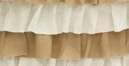 Burlap Ruffles Tablecloth