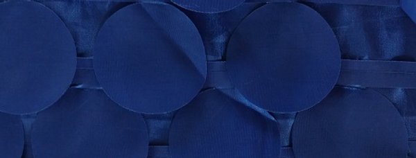 Round Drops Taffeta Royal Tablecloth