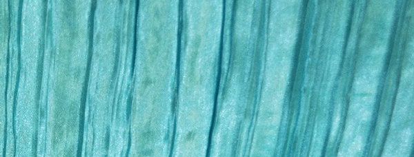 RENTAL - Accordion Satin Turquoise Tablecloth