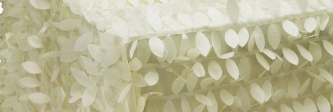 RENTAL - Leaf Petals Ivory Tablecloth