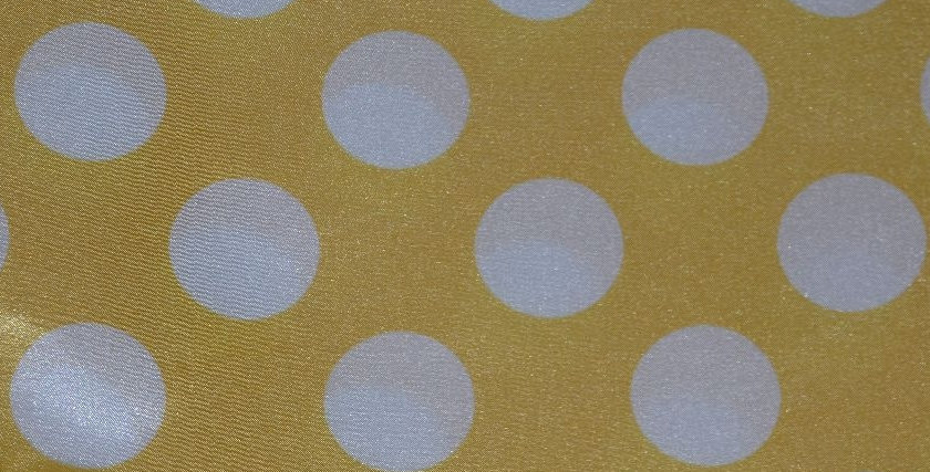 Polka Dot White with Yellow Tablecloth