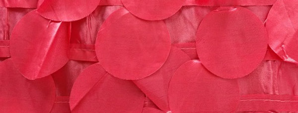 RENTAL - Round Drops Taffeta Red Coral Tablecloth