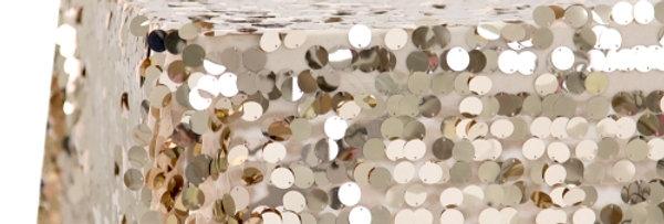 Round Confetti Champagne Sequin Tablecloth