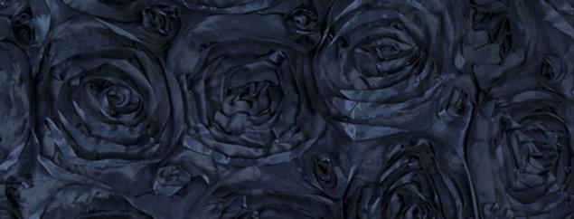 Satin Ribbon Navy Blue Rosette Tablecloth