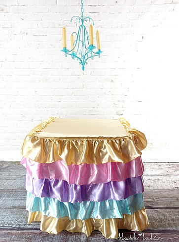 Custom Multi Tiered Ruffles Ombre Tablec