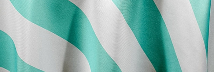 RENTAL - Canopy Stripes Aqua Tablecloth