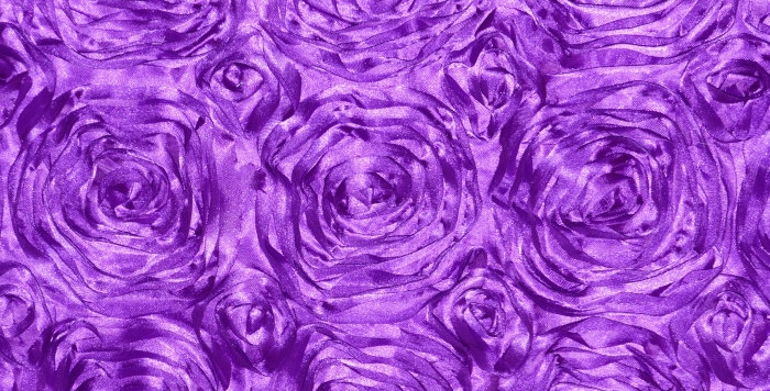 Satin Ribbon Purple Hyacinth Rosette Tablecloth