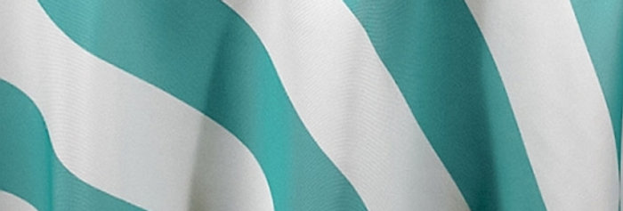 RENTAL - Canopy Stripes Turquoise Tablecloth