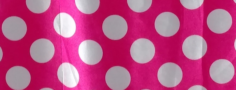 Polka Dot White on Hot Pink Tablecloth