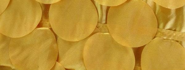 Round Drops Taffeta Lemon Tablecloth