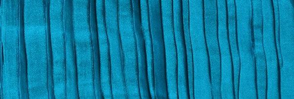 RENTAL - Accordion Satin Teal Tablecloth