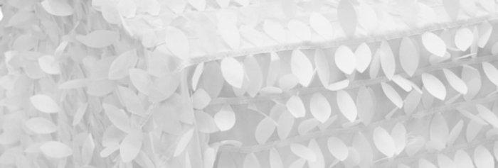 Leaf Petals White Tablecloth