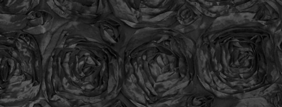 Satin Ribbon Black Rosette Tablecloth
