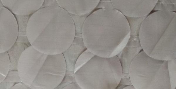 RENTAL - Round Drops Taffeta Silver Tablecloth