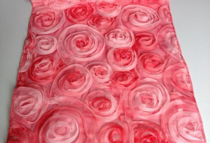 Pale Pink Chiffon Swirls Runner