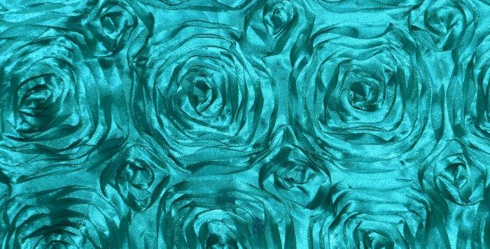 Satin Ribbon Jade Green Rosette Tablecloth