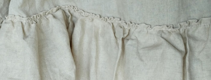 French Farmhouse Natural Linen Ruffle Tablecloth