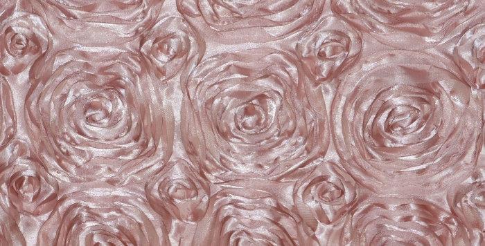 Satin Ribbon Blush Rosette Tablecloth