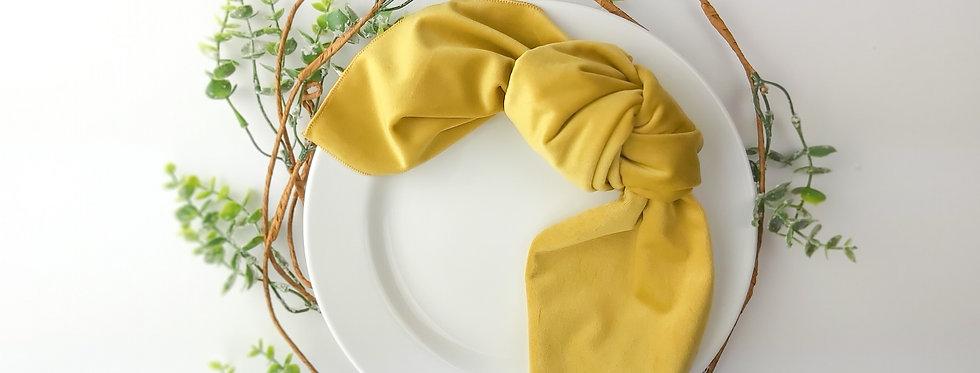 Canary Yellow Matte Velvet Napkin