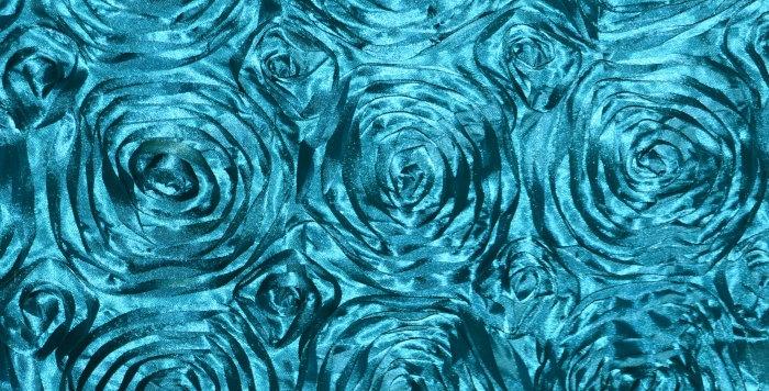 Satin Ribbon Aquamarine Rosette Tablecloth
