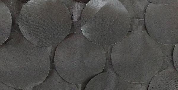 Round Drops Taffeta Ebony Tablecloth