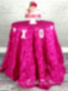 Hot PinkPinwheel Tablecloth for Wedding or Party at blush LULA