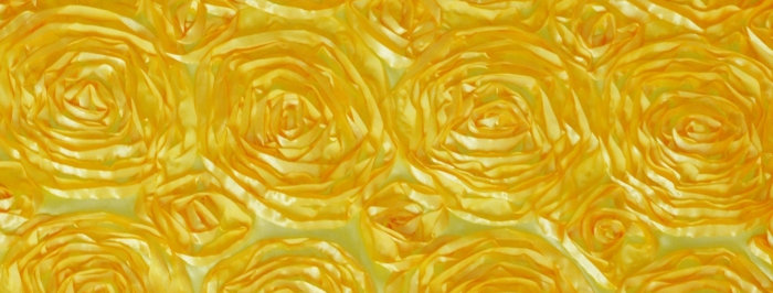 Satin Ribbon Lemon Yellow Rosette Tablecloth
