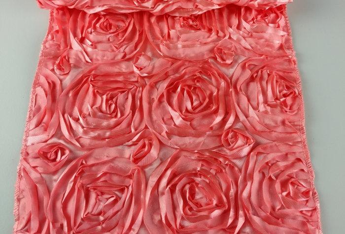 Rosette Pink Coral Runner