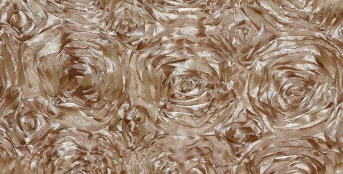 Satin Ribbon Beige Rosette Tablecloth