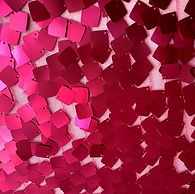 Red Magenta Square Dangle Sequin on Mesh
