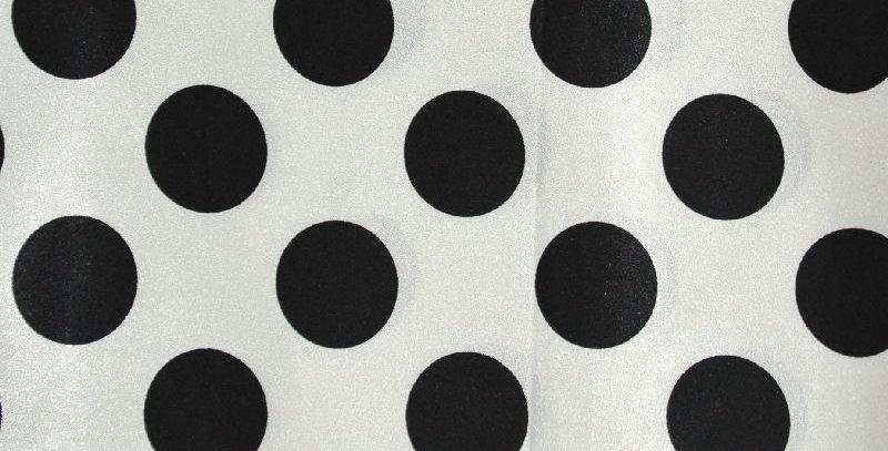 Polka Dot Black on White Tablecloth