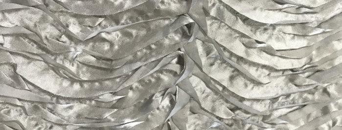 Wave Puff Satin Gray Tablecloth